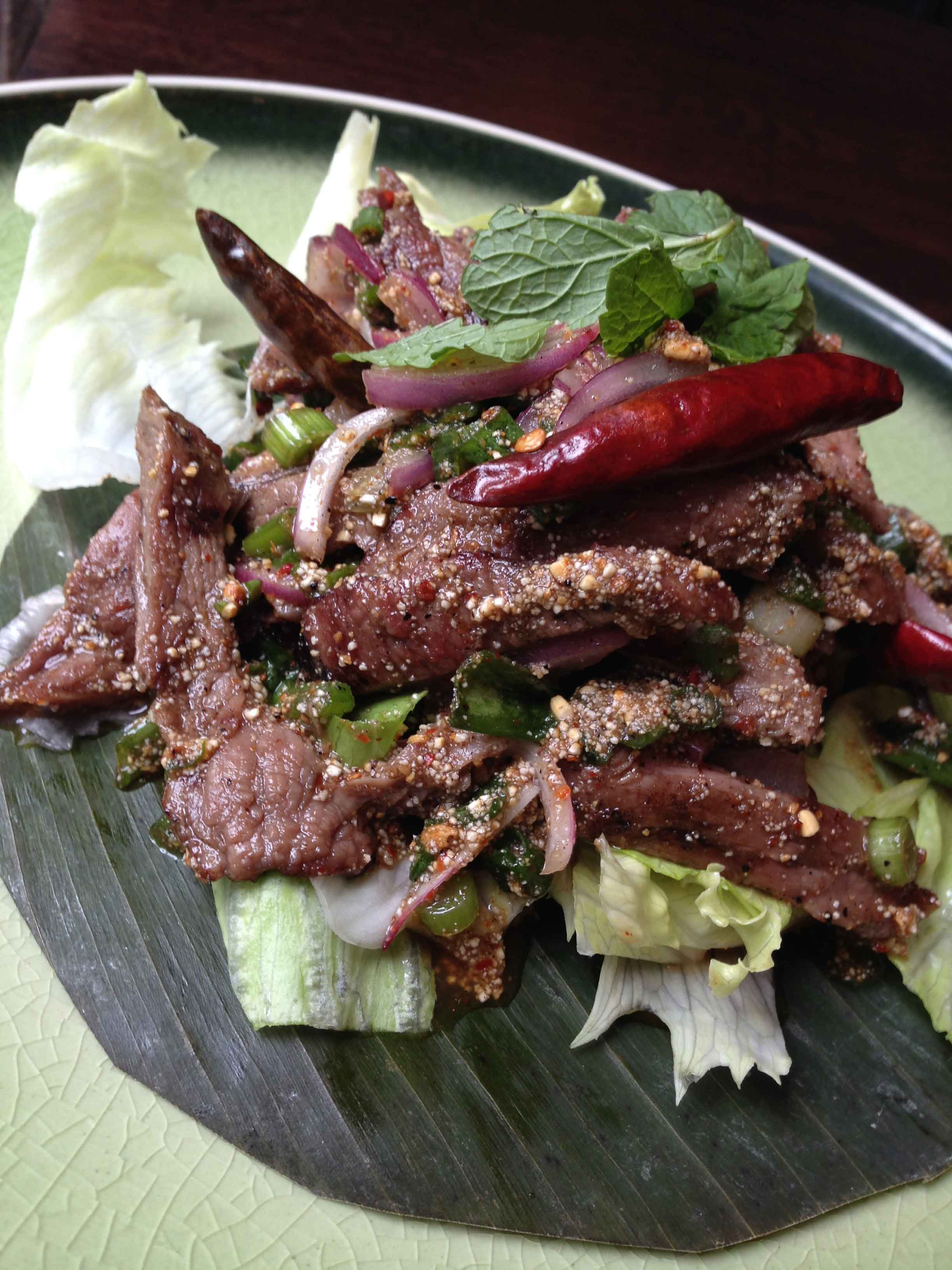 Spicy Beef Salad (Num Tok)